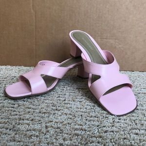 Leather Naturalizer Baby Pink Heel